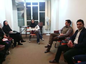 برگزاری اولین جلسه کلاس گویندگی و فن بیان